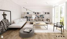 Salon styl Skandynawski - zdjęcie od LAVA Projektowanie Wnętrz - Salon - Styl Skandynawski - LAVA Projektowanie Wnętrz