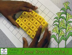 Farmer Brown's Cornfield~ a simple little lesson to help my students who struggle with the concept of arrays, rows, and columns plus a FREE lesson visual and printable student page.