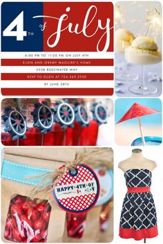 July 4th Party Ideas!  -------------------------  May use the bag and tag as party favors. Daiquiris and dipped strawberries are also a cool idea.