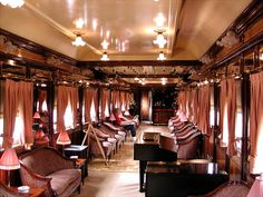 Al Andalus is a luxury train that operates through southern Spain. The carriages were built in France between 1929 and 1930 by the Wagon-Lits Company, and have now been restored to their original splendour that is matched with an on board service that combines quality meals with a romantic travel experience.