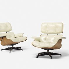 Charles and Ray Eames, special-order 670 lounge chairs, pair