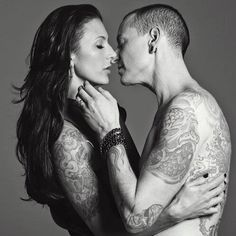Wow - awesome photo of Talinda and Chester Bennington