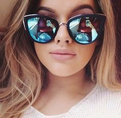 My Girl & her BLue Mirror Sunnies