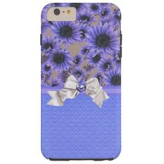 Purple Sunflowers iPhone 6 Plus Case