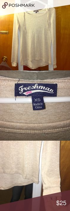 Freshman sweater hoodie Light flowy sweater fabric with a hood! Very cute and in excellent condition. Freshman Tops Sweatshirts & Hoodies