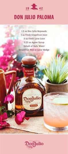 Buy premium Don Julio Tequila products at a liquor store, bar, or restaurant location near you. Cocktails Bar, Bar Drinks, Cocktail Drinks, Cocktail Recipes, Alcoholic Drinks, Beverages, Cocktail Shaker, Agaves, You And Tequila