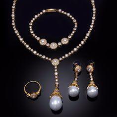 Princess Jewelry set Rhodium  Gold plated White CZ Necklace Bracelet Earrings Finger ring Bridal Set