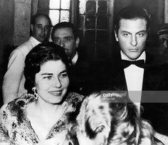 Soraya (Esfandiary Bakhtiary) *-+ Kaiserin von Persien 1951-1958, Iran - mit Prinz Raimondo Orsini - 1959