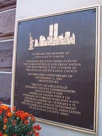 9/11 Dedication Plaque - Circleville, Ohio - 9/11 Memorial Sites on Waymarking.com