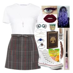 """""""#160"""" by moon-crystal-wolf ❤ liked on Polyvore featuring Links of London, Rosetta Getty, Miu Miu, Converse, Tiffany & Co., Thomas Sabo, Allurez and Barry M"""
