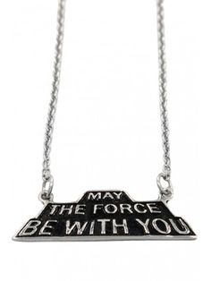 May The Force Be With You Necklace - Silver