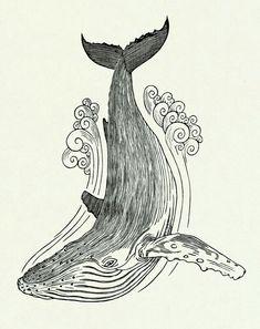 Resultado de imagen para whale drawing tumblr