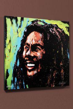 Celebrity Portrait - #BobMarley by David Garibaldi
