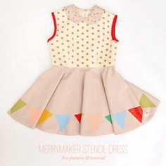 Your favorite little girl will twirl her little heart out all summer long in this lovely DIY dress!