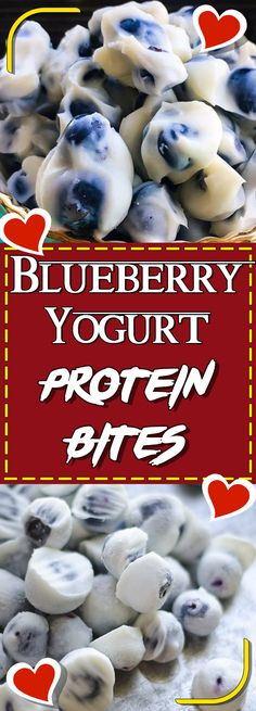 Blueberry Yogurt Protein Bites #recipe #easyrecipes #dessert #dessertrecipes #desserttable #appetizer