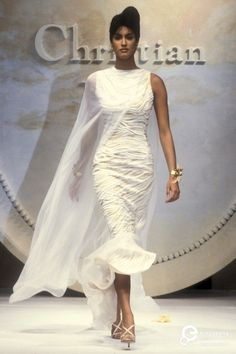 Yasmeen Ghauri - Christian Dior, Spring-Summer 1993, Couture