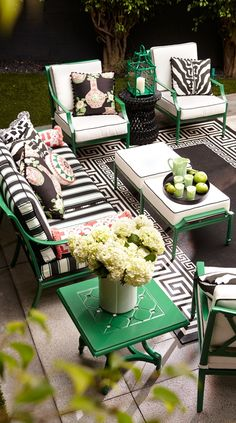 Play hostess during party season without a care. Our Grayson Loveseat is perfect for any occasion, with its high lattice back and airy design. | Frontgate: Live Beautifully Outdoors