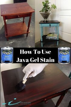 General Finishes Gel Stains are a great alternative to traditional stains. These beautiful oil based products require very little prep and come in an awesome range of colors including the ever popular Java. In this blog post we'll take you through the steps of refinishing furniture. Check out how easy and fast these transformations are by clicking the link.
