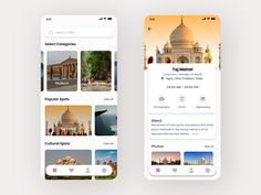 Travel Guide UI designed by Ashish Chutake. Best Ui Design, Web Design, App Ui Design, Mobile App Design, User Interface Design, Prototype App, Travel Guide App, Mobile App Ui, Ui Web