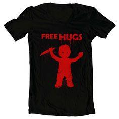 Chucky Hugs T-shirt clip art