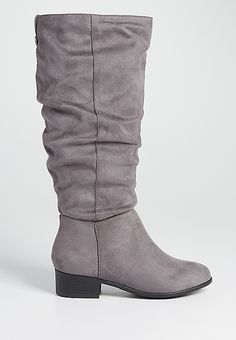 Sheryl faux suede boot in gray | maurices