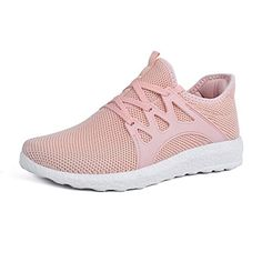 a1c48094ac Mxson Womens Sneakers Ultra Lightweight Breathable Mesh Sport Gym Walking  Shoes Pink 9B(M)
