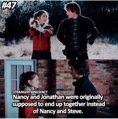 Now I'm gonna kill people. But I'm sure they'll end up together at some point. << The producers really liked the actor that played Steve. They thought he was funny and sweet and charming so they decided to keep him with Nancy on the show. Best Tv Shows, Best Shows Ever, Movies And Tv Shows, Favorite Tv Shows, Stranger Things Have Happened, Stranger Things Funny, Sherlock, Don T Lie, I Call You