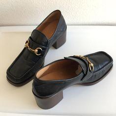 Gucci Loafers Slip-ons Horsebit Vegas Black Flats