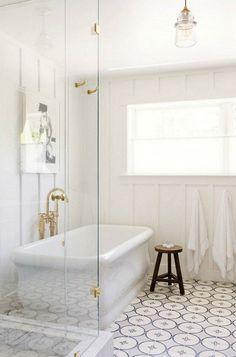 Bathroom Floor Patterned Tile