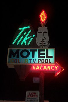 "Tiki Motel - Tucson, AZ. As seen in the movie ""Interstate""."
