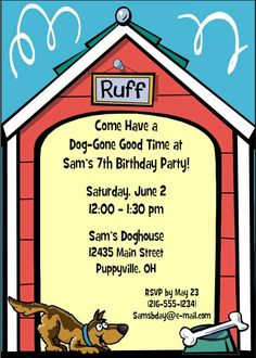 Puppy Dog Theme Party Invitation The Is One Of Our Most Popular Themed PartiesPuppy Birthday
