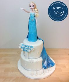 Elsa cake, made by The Foxy Cake Co!