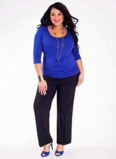 Mindy Plus Size Top in Cobalt Blue