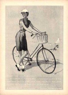 B. Altman   Co. Bike Lady Art Lls (1952) c7a33f461