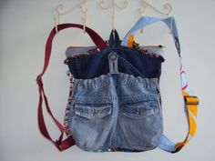 BELLBOTTOM BLUES Embroidered Denim Jeans by JaneCohenArtfulBags, $199.00
