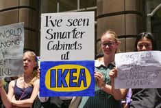 'I've seen smarter cabinets at Ikea': Striking students rally for climate - Climate Change Strike - Protesting students in Sydney Informations About 'I've seen smarter cabinets at Ikea': Strikin - Protest Posters, Protest Signs, Climate Change Quotes, School Strike, Gender Neutral Names, Stress Management Techniques, Ikea, Climate Change Effects, Nobel Peace Prize