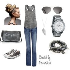 Casual Gray, created by courtshen on Polyvore