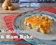 Mashed Potato Ham Bake