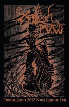 Agalloch Summer Tour 2012 poster