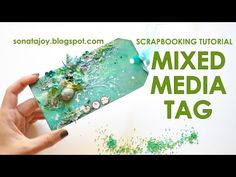 Mixed media tag. Scrapbooking Tutorial. Scraps Of Darkness July 'An Ocean Tale' Kit - YouTube