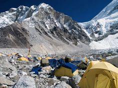 Everest Base Camp. Photograph: Rafal Belzowski/Getty Images