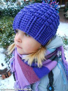 Milé maminky,vkládám návod na jednoduchý kulíšek.Pokud již tady někde bude návod,tak se omlouvám,ale... Crochet Beanie Hat, Beanie Hats, Knitted Hats, Crochet Hats, Knitting Patterns, Crochet Patterns, Kids Corner, Baby Hats, Headpiece
