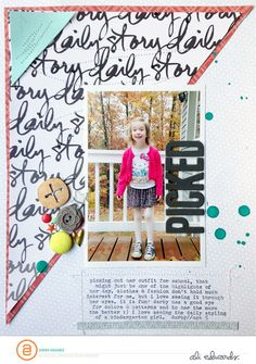 #Papercraft #Scrapbook #Layout. picked by ginny at @studio_calico