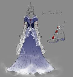 Outfit Prize for Tora-Sayo #1 by Nahemii-san on DeviantArt Dress Drawing, Drawing Clothes, Fashion Design Drawings, Fashion Sketches, Pretty Outfits, Pretty Dresses, Anime Dress, Dress Sketches, Anime Costumes