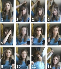 Cute Bridget hair tutorial...love this, some of the girls on my daughter's cheerleading squad wear their hair like this and it's sooooo cute...