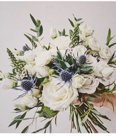 Planning A Fantastic Flower Wedding Bouquet – Bridezilla Flowers Wedding Flower Arrangements, Flower Bouquet Wedding, Floral Wedding, Wedding Colors, Floral Arrangements, Bouquet Flowers, Autumn Wedding Flowers, September Wedding Flowers, Blue Bouquet