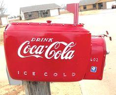 Coca-Cola Cooler Adapted Mailbox