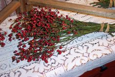2 Bunches of Wild Rosehips Home Decor Primitive Decoration Crafts Three Oaks, Flower Farm, Decor Crafts, Home Decor, Fall Season, Spring Time, Harvest, My Etsy Shop, Holiday Decor
