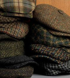Tweed hats.
