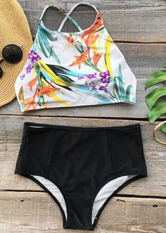 Bring on the beach, sand, and waves in this stunning bikini set. Inspired with this floral tankini set-$21.99 Only with free shipping Now! This back tie&cross are also highlight of this beauty! Can not deny it at Cupshe.com